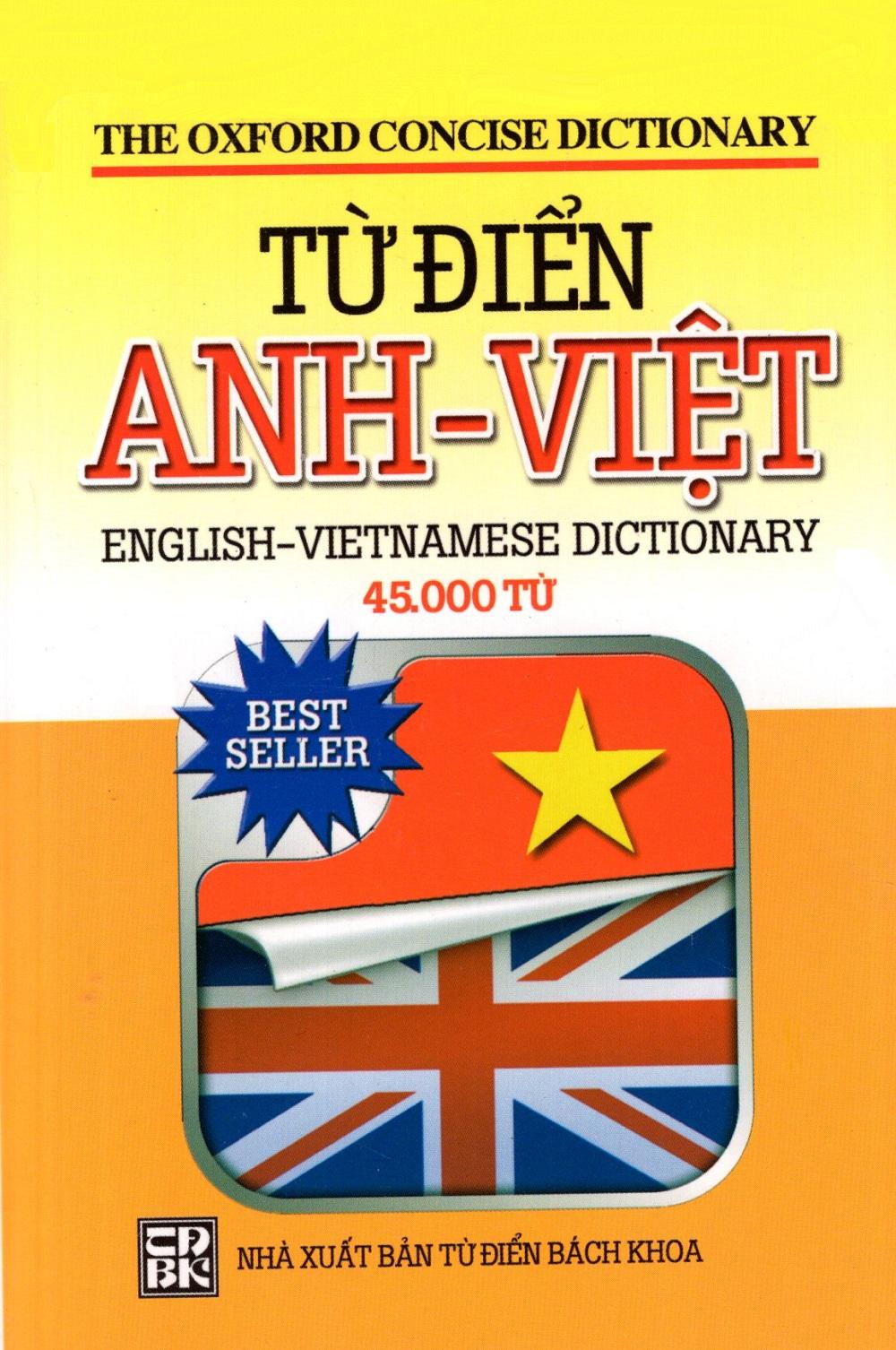 Bìa sách Từ Điển Anh - Việt (45.000 Từ) - Sách Bỏ Túi