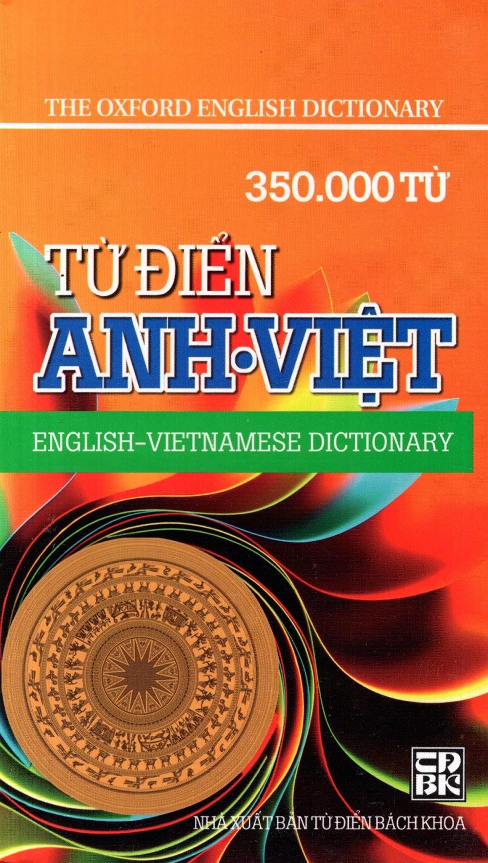 Bìa sách Từ Điển Anh - Việt (350.000 Từ) - Sách Bỏ Túi