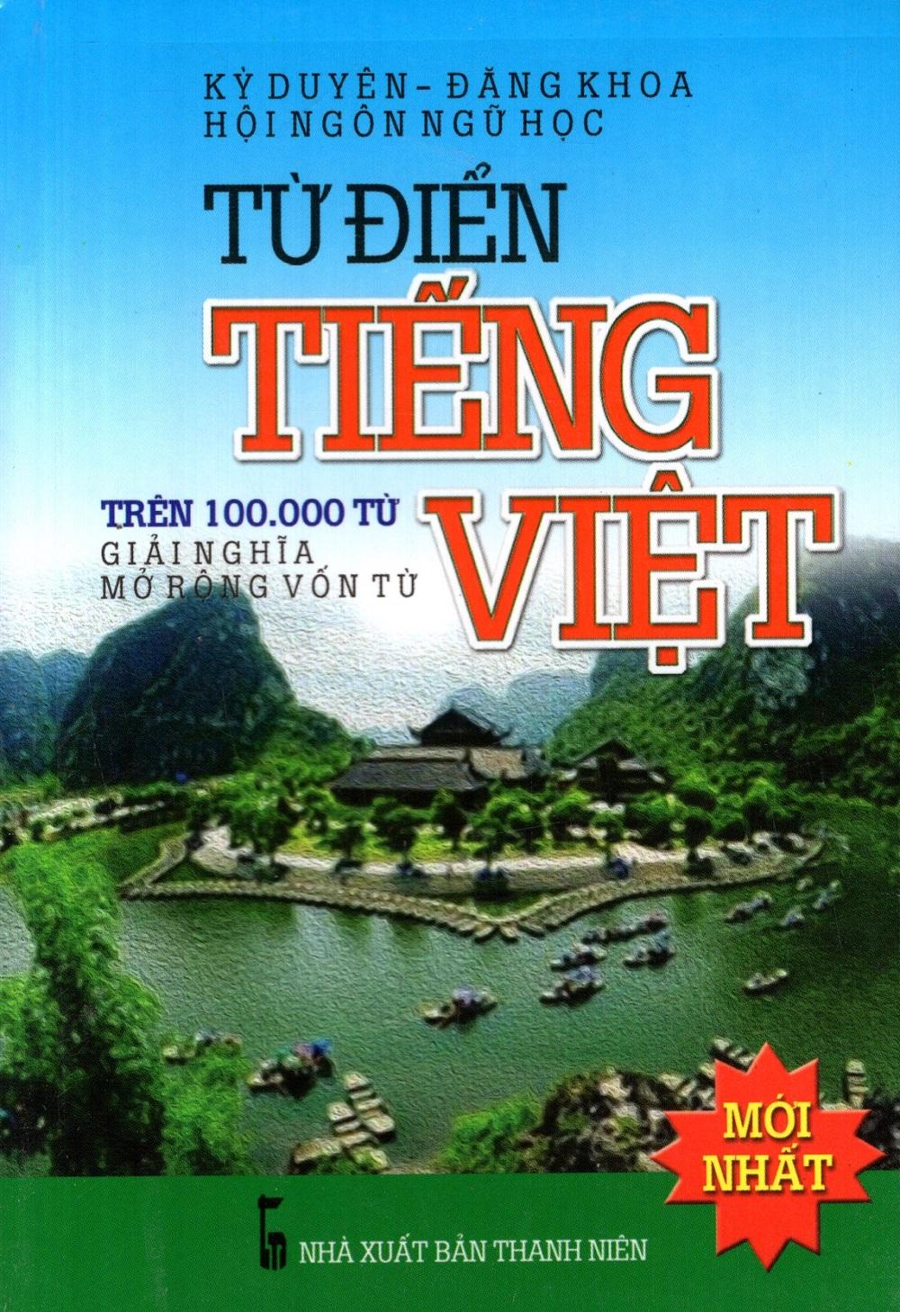 Bìa sách Từ Điển Tiếng Việt (Trên 100.000 Từ) - Sách Bỏ Túi