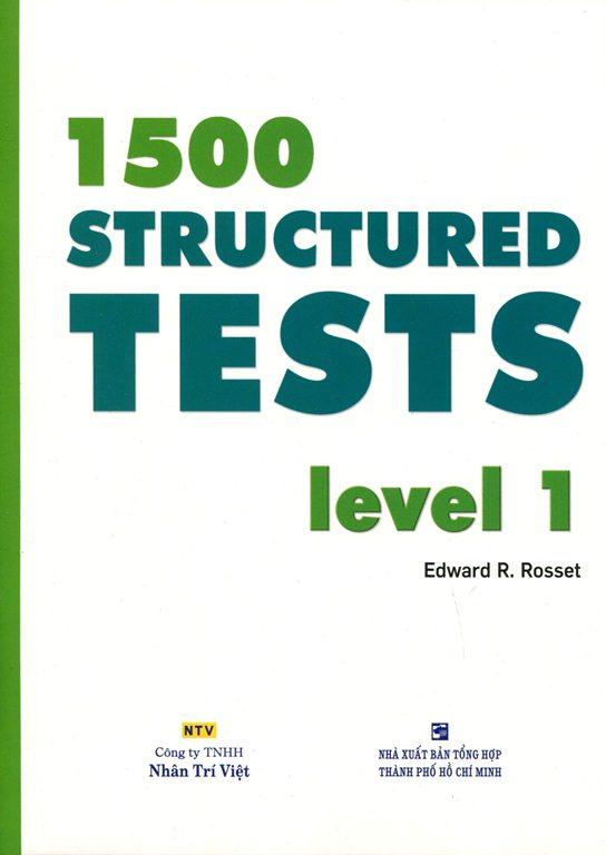 Bìa sách 1500 Structured Tests Leve 1 (Không CD)