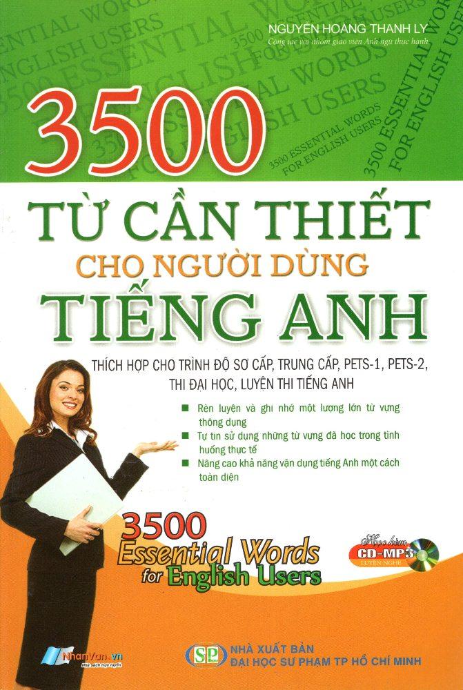 Bìa sách 3500 Từ Cần Thiết Cho Người Dùng Tiếng Anh (Kèm CD)