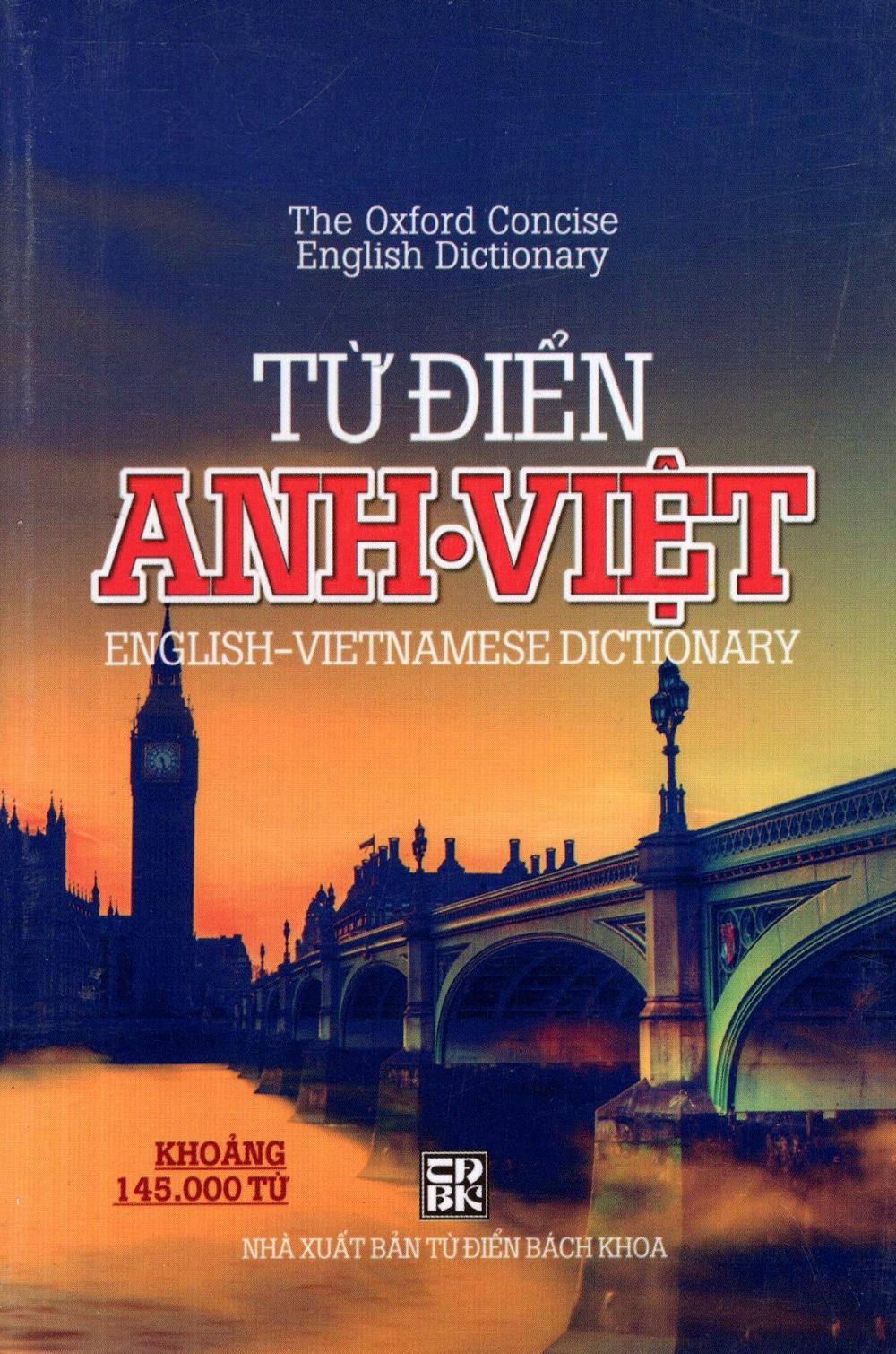 Bìa sách Từ Điển Anh - Việt (Khoảng 145.000 Từ) (Minh Trí) - Sách Bỏ Túi