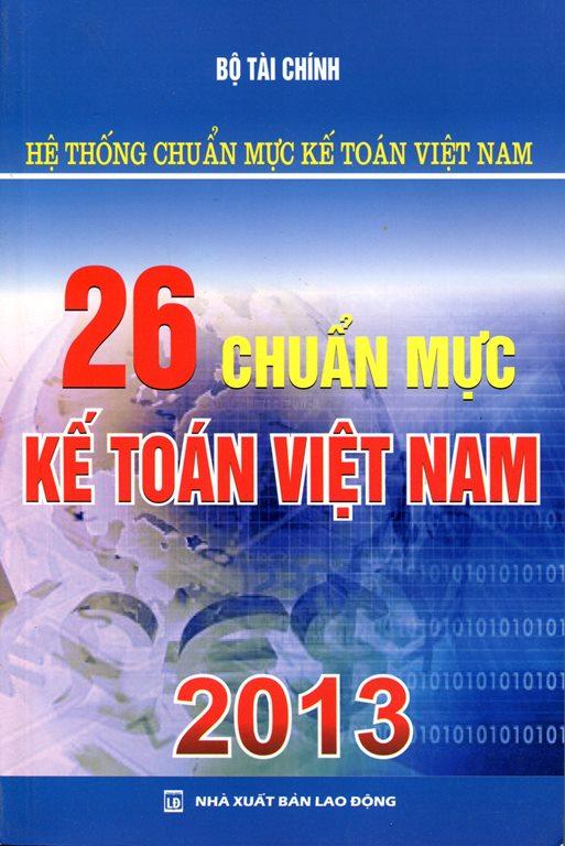 Bìa sách 26 Chuẩn Mực Kế Toán Việt Nam