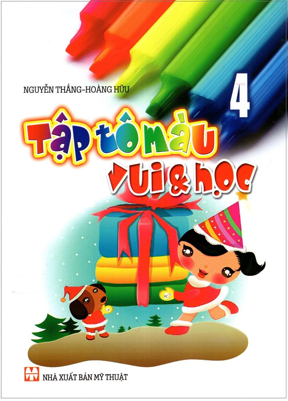 Bìa sách Tập Tô Màu Vui  Học (Tập 4)