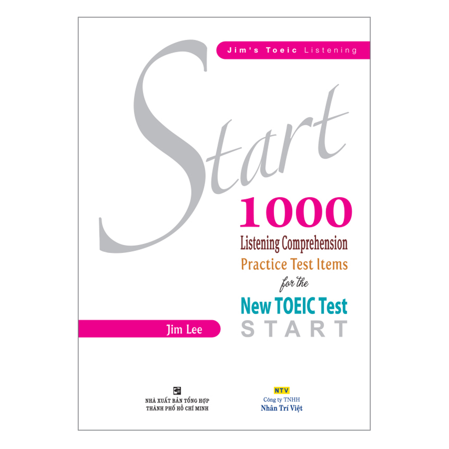 Bìa sách Start 1000 Listening Comprehension Practice Test Items For The New TOEIC Test (Kèm CD)