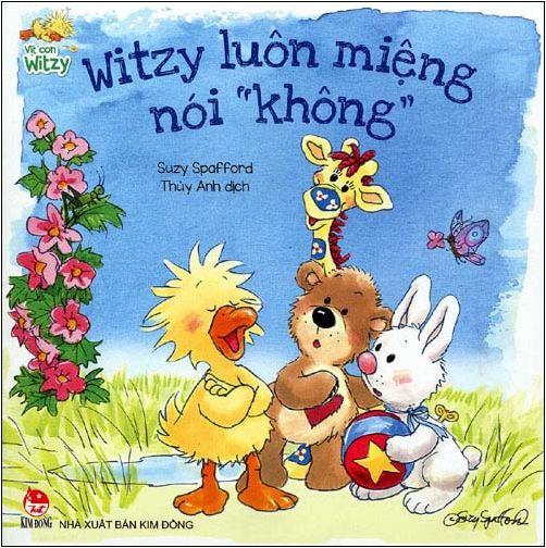 Bìa sách Vịt Con Witzy - Witzy Luôn Miệng Nói