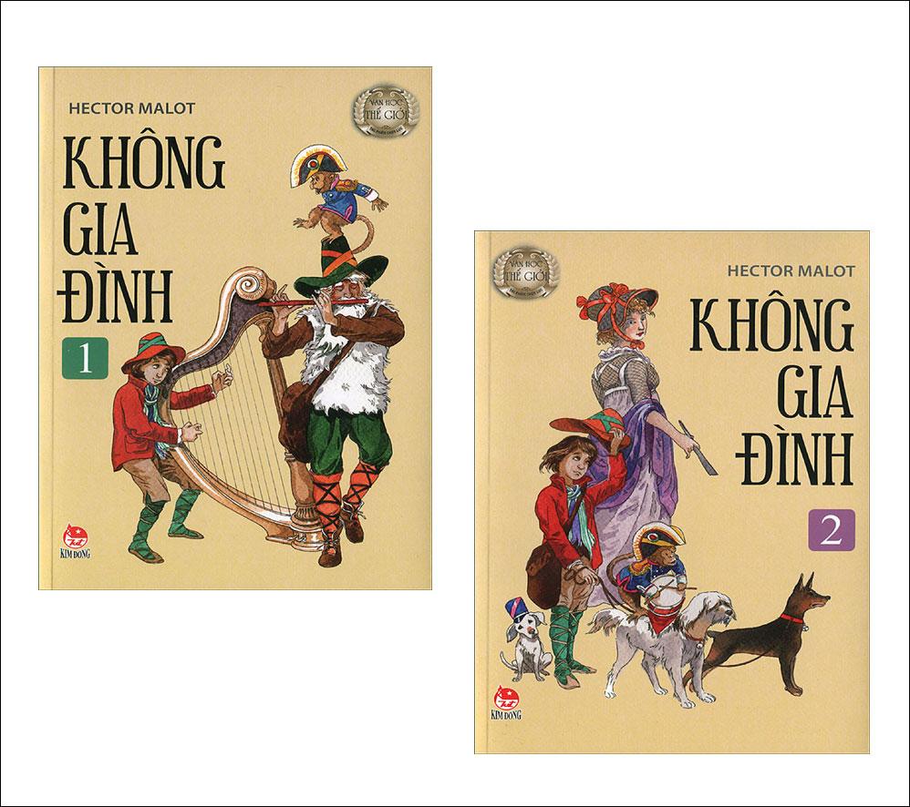 Bìa sách Combo Không Gia Đình (Trọn Bộ 2 Tập) - Kim Đồng
