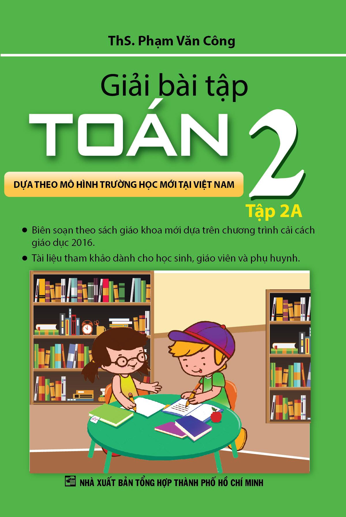 Bìa sách Giải Bài Tập Toán Lớp 2 (Tập 2A)