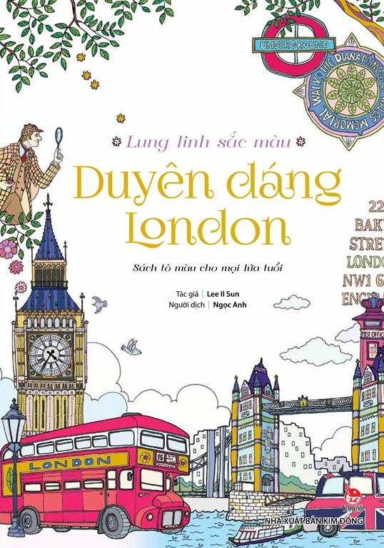 Bìa sách Lung Linh Sắc Màu - Duyên Dáng London (Sách Tô Màu)