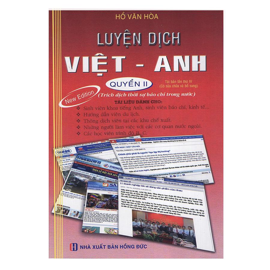 Bìa sách Luyện Dịch Việt - Anh (Tập 2)