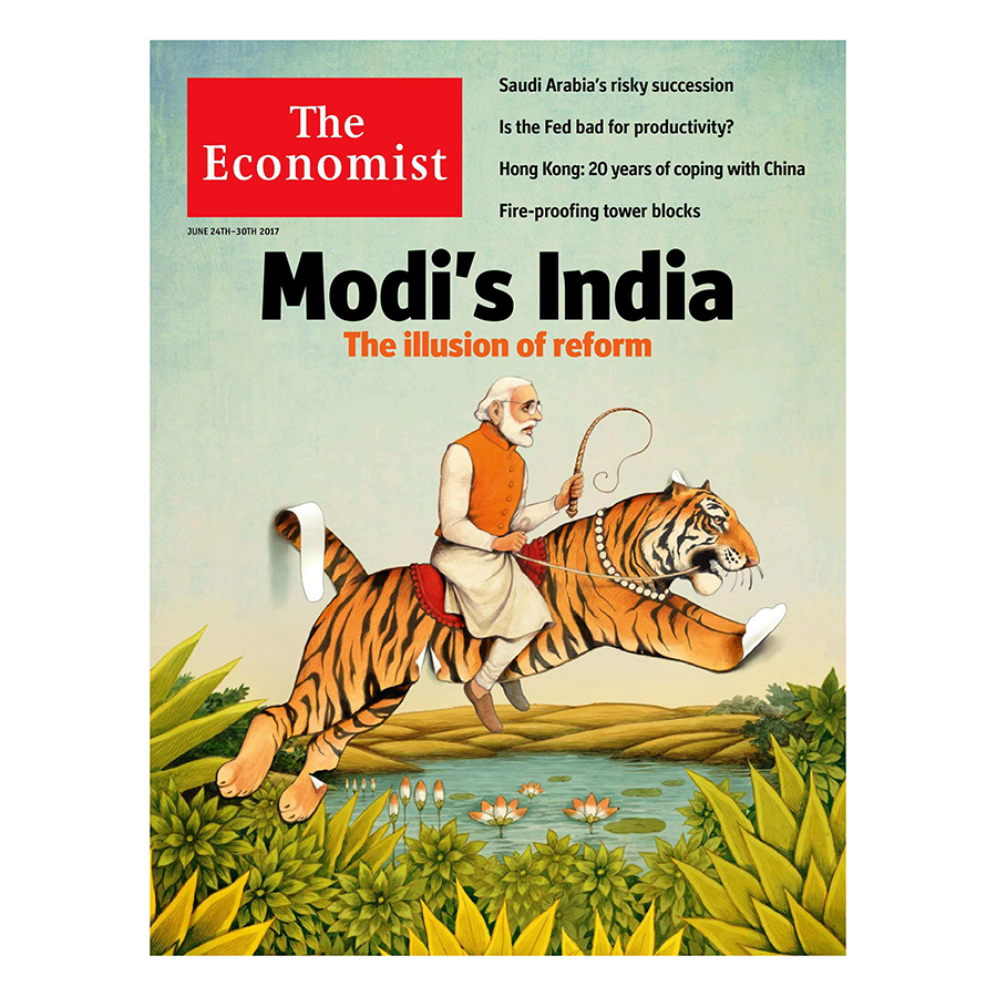 Bìa sách The Economist: Modis India
