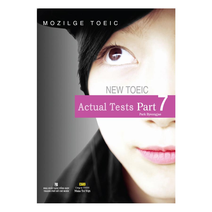 Bìa sách Mozilge Toeic Actual Test - Part 7