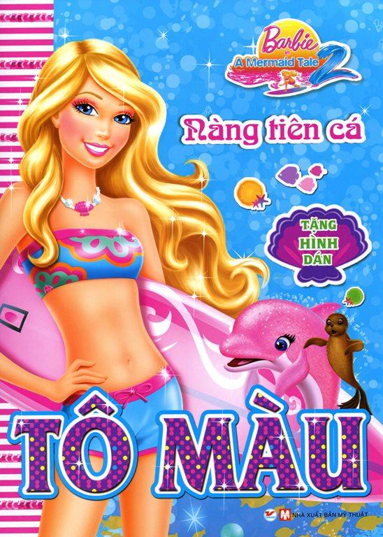 Bìa sách Tô Màu Barbie - Nàng Tiên Cá (Tặng Kèm Hình Dán)