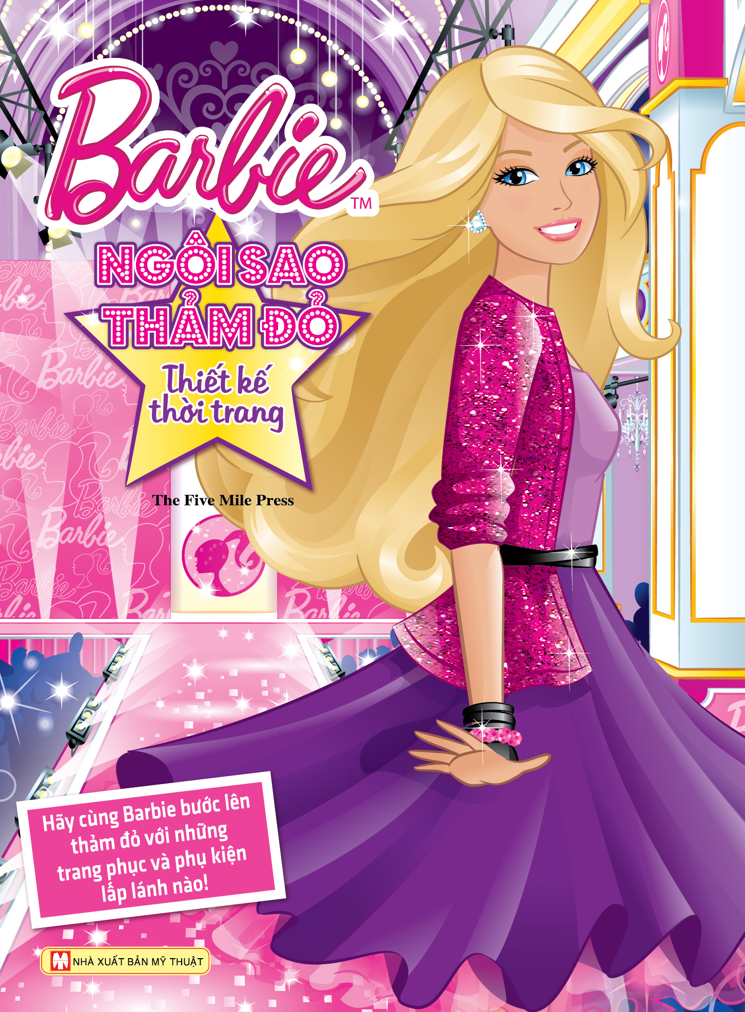 Bìa sách Barbie Thiết Kế Thời Trang - Ngôi Sao Thảm Đỏ