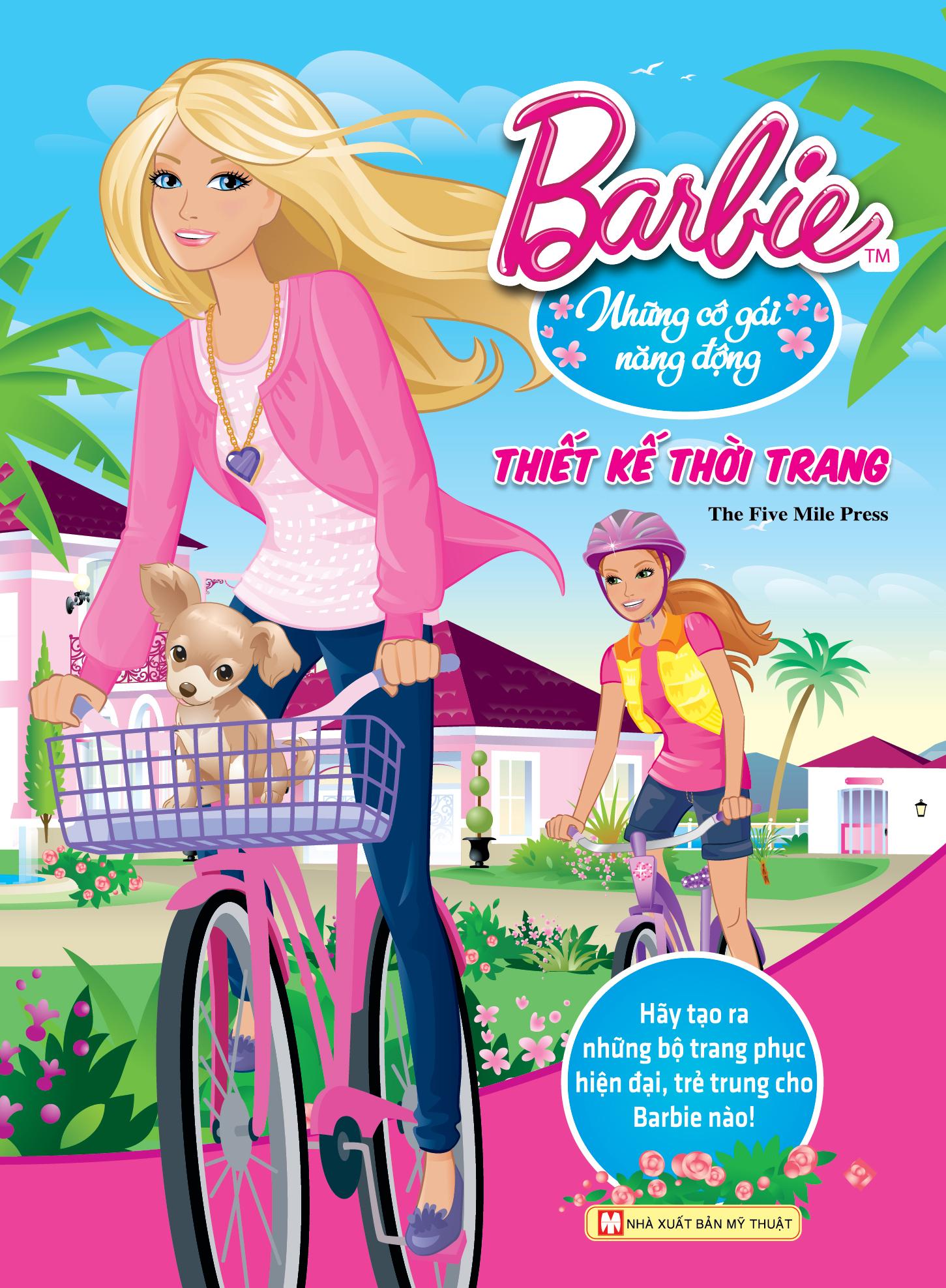 Bìa sách Barbie Thiết Kế Thời Trang - Những Cô Gái Năng Động