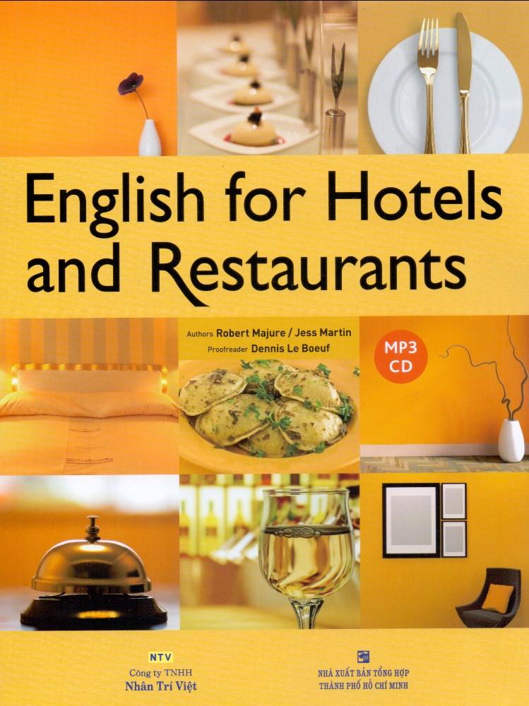 Bìa sách English For Hotels And Restaurants (Kèm CD)