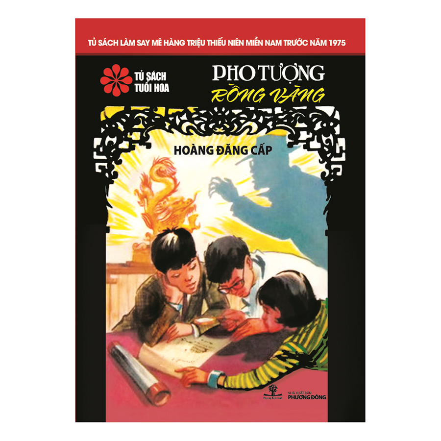 Bìa sách Pho Tượng Rồng Vàng (Tủ Sách Tuổi Hoa - Hoa Đỏ)