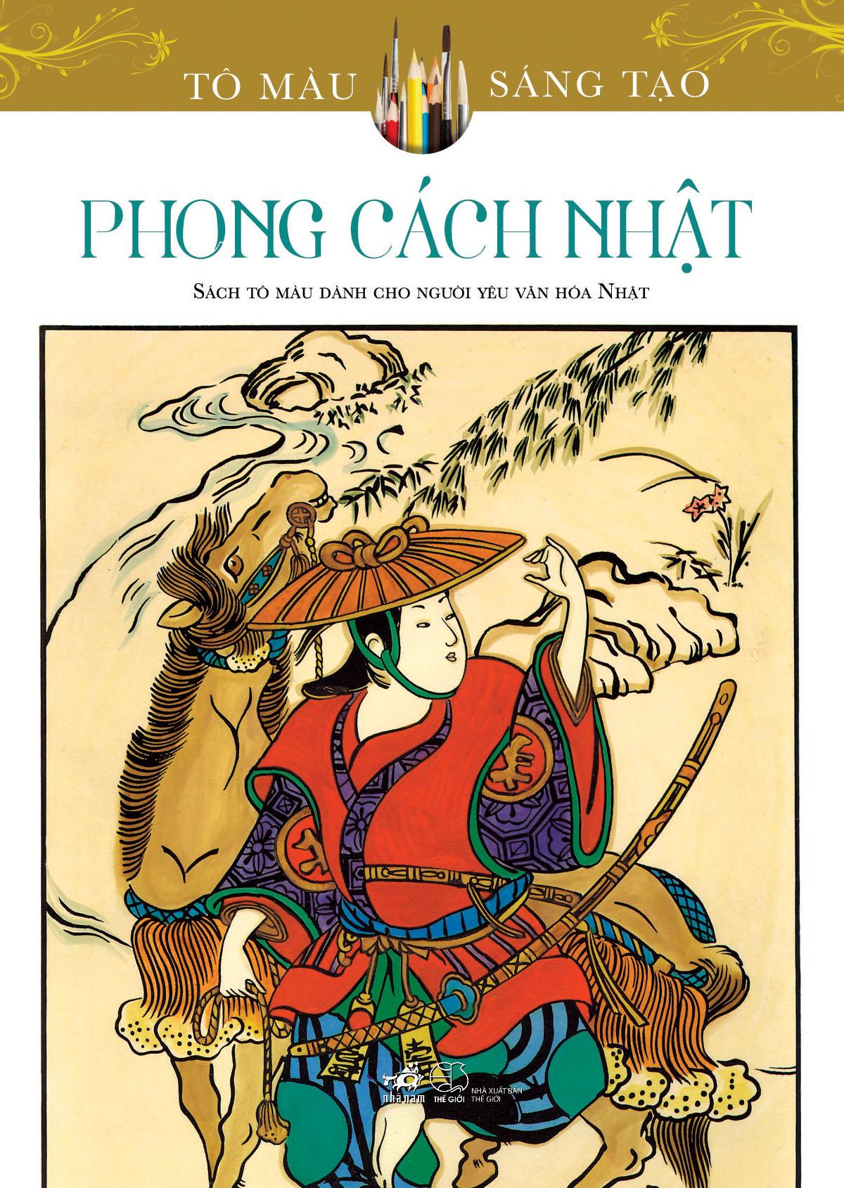Bìa sách Tô Màu Sáng Tạo - Phong Cách Nhật