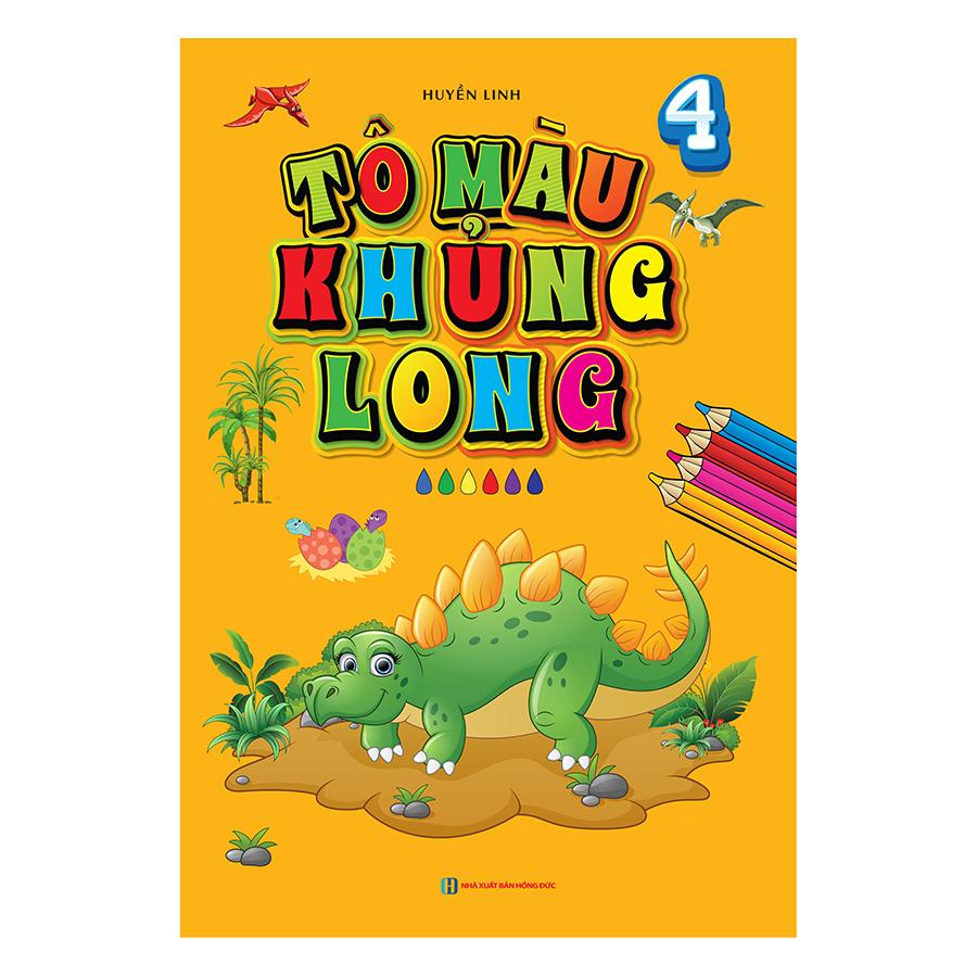 Bìa sách Tô Màu Khủng Long 4