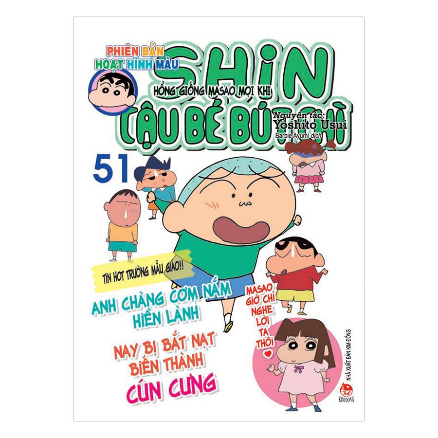 Bìa sách Shin Cậu Bé Bút Chì – Phiên Bản Hoạt Hình Màu - Tập 51