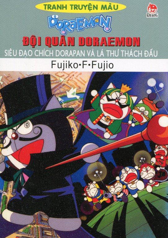 Bìa sách Đội Quân Doraemon - Siêu Đạo Chích Dorapan Và Lá Thư Thách Đấu