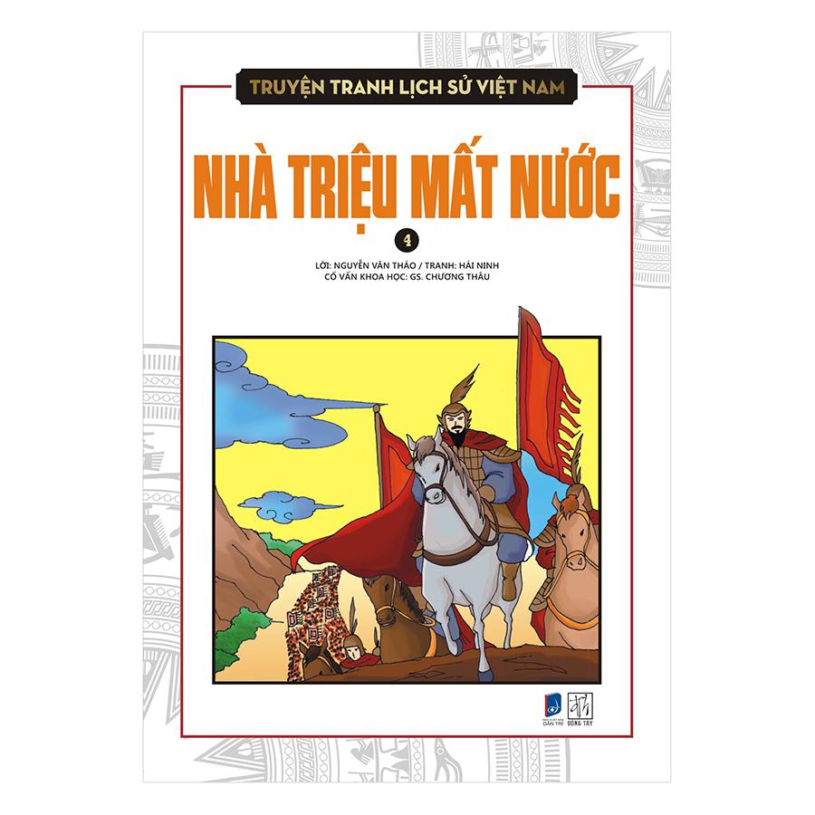 Bìa sách Truyện Tranh Lịch Sử Việt Nam - Nhà Triệu Mất Nước