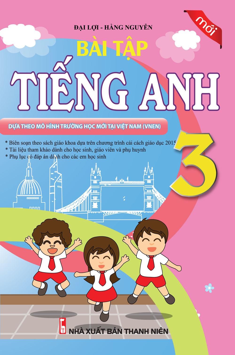 Bìa sách Bài Tập Tiếng Anh Lớp 3 (Mới)
