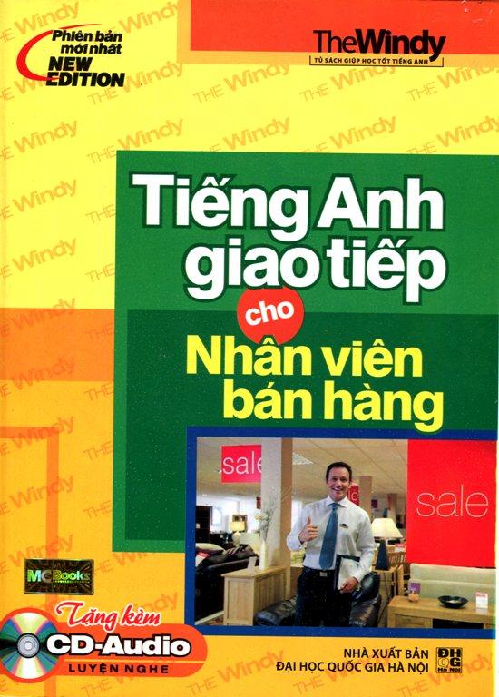 Bìa sách Tiếng Anh Giao Tiếp Cho Nhân Viên Bán Hàng (Kèm CD)