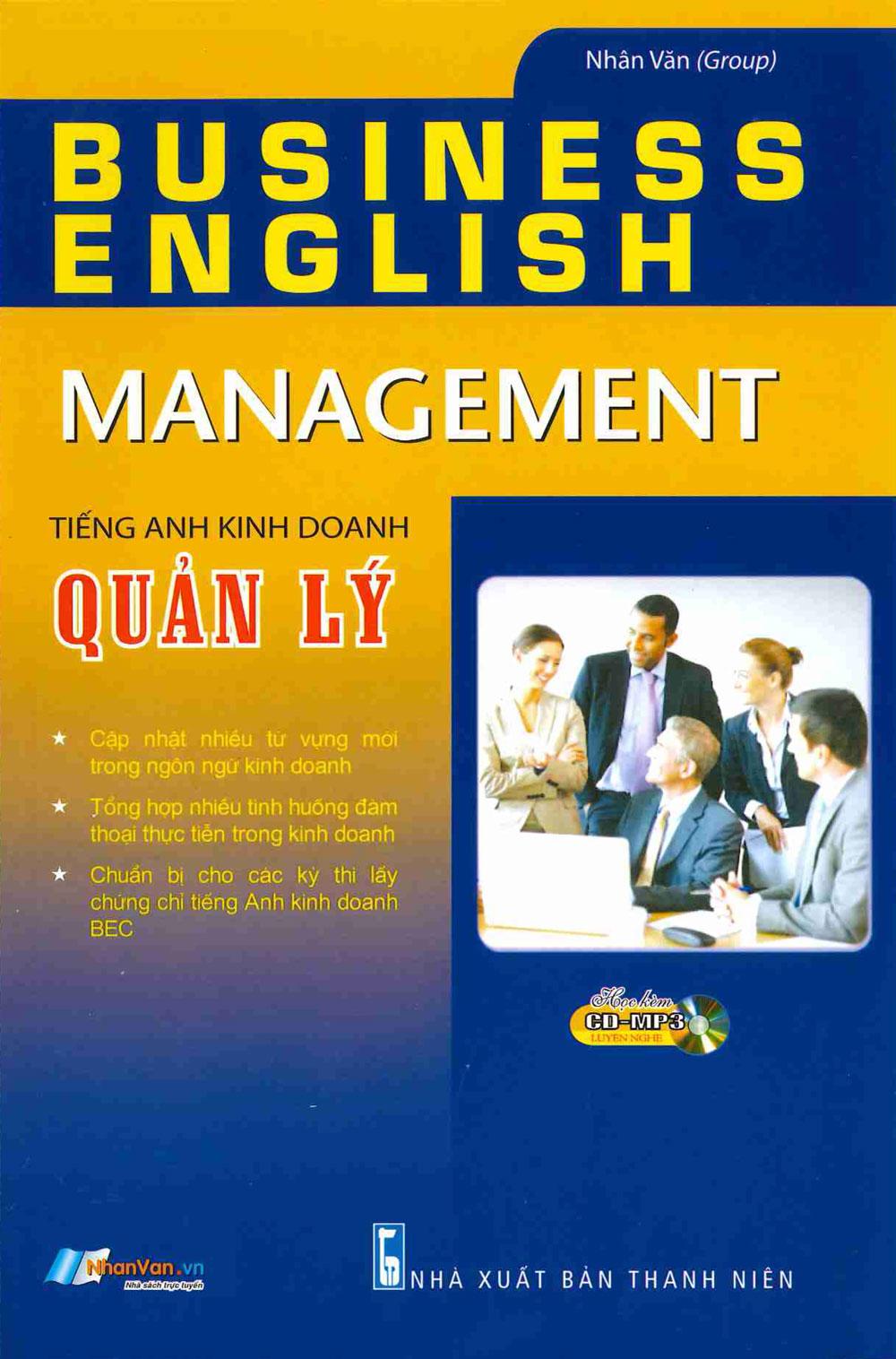 Tiếng Anh Kinh Doanh – Quản Lý (Kèm CD)