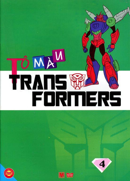 Bìa sách Tô Màu Trans Formers (Tập 4)