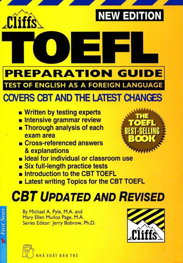 Bìa sách TOEFL Cliffs Preparation Guide 2001-2002 (Không Kèm CD)