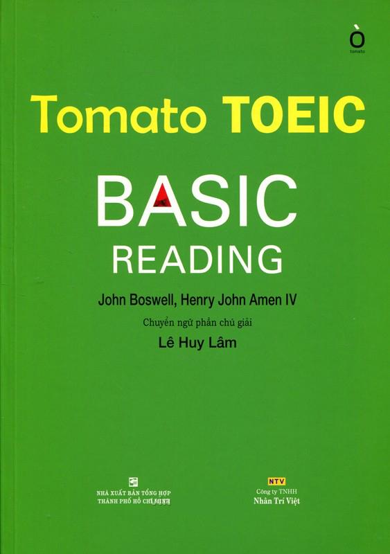 Bìa sách Tomato Toeic Basic Reading