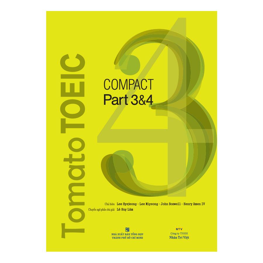 Bìa sách Tomato Toeic Compact 34 (Kèm CD)