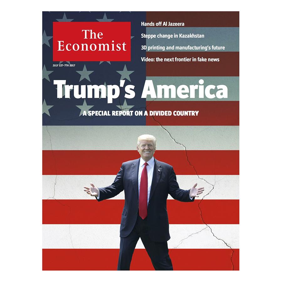 Bìa sách The Economist: Trumps America