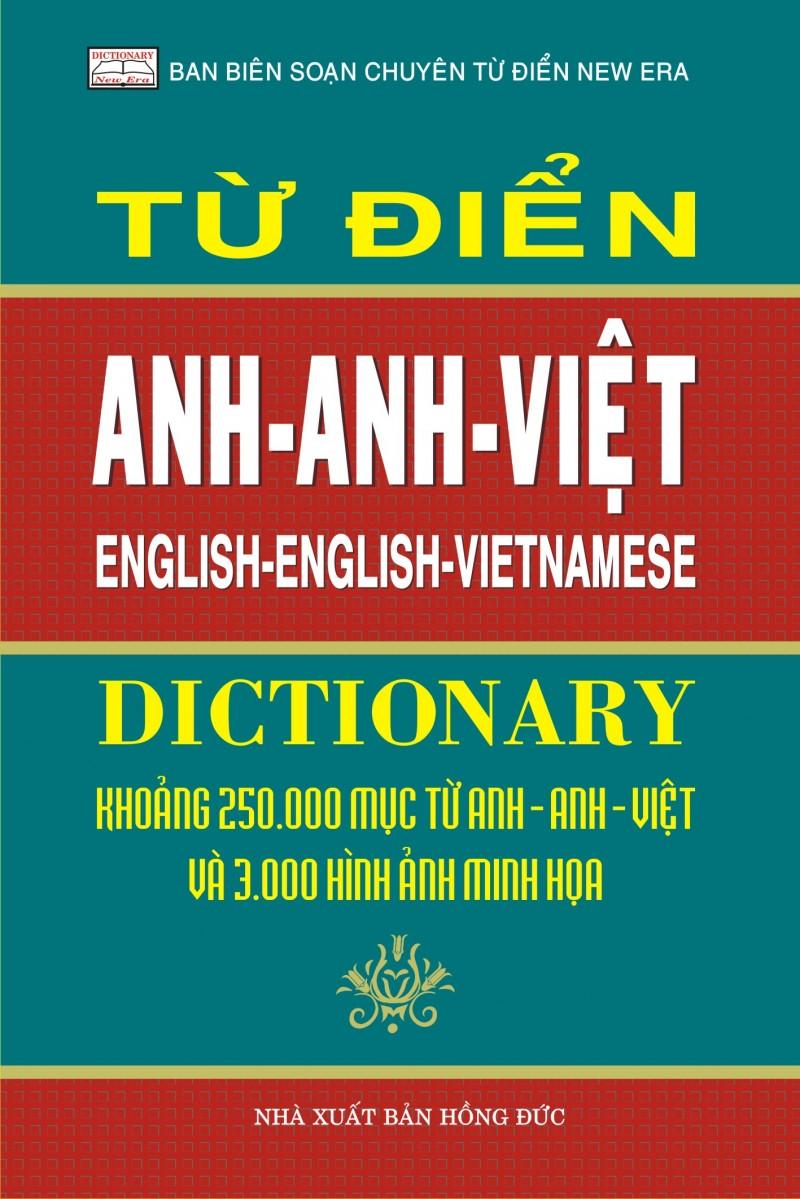 Bìa sách Từ Điển Anh - Anh - Việt 250.000 Từ