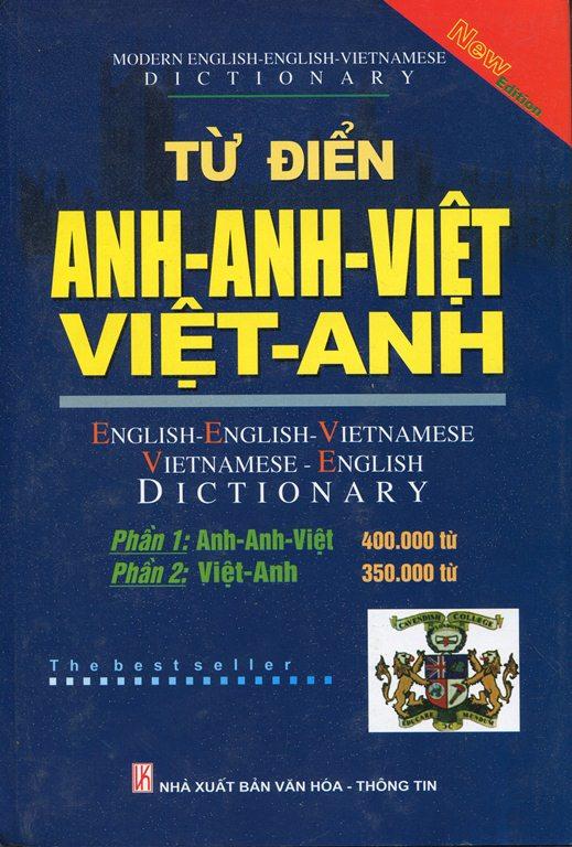 Bìa sách Từ Điển Anh - Anh - Việt, Việt - Anh (750.000 Từ) Bìa Cứng