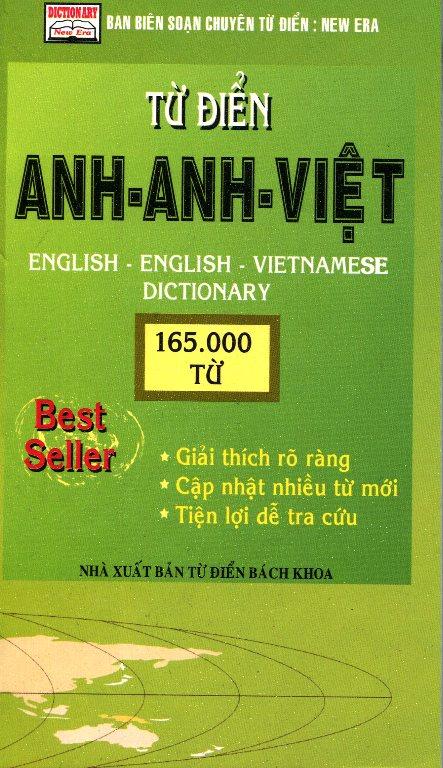 Bìa sách Từ Điển Anh - Anh - Việt (165000 Từ)