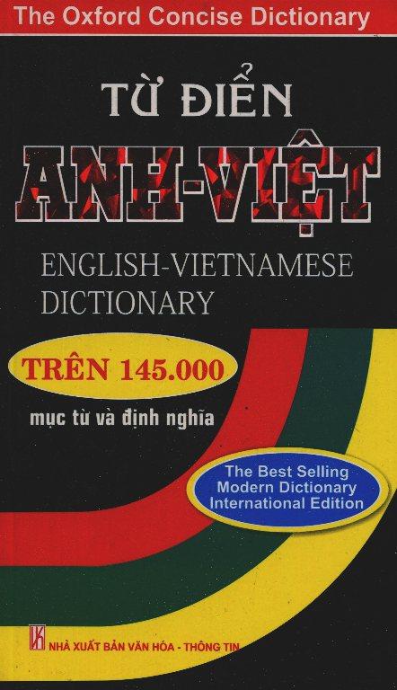Bìa sách Từ Điển Anh - Việt Trên 145000 Từ (Bìa Mềm)