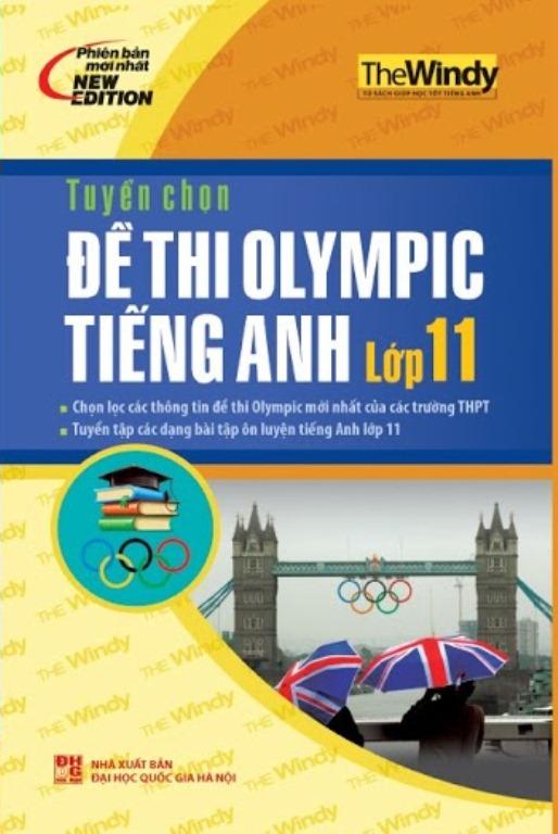 Bìa sách Tuyển Chọn Đề Thi Olympic Tiếng Anh Lớp 11
