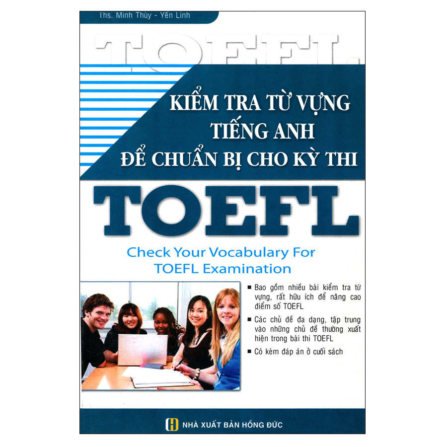 Bìa sách Kiểm Tra Từ Vựng Tiếng Anh Để Chuẩn Bị Cho Kỳ Thi TOEFL
