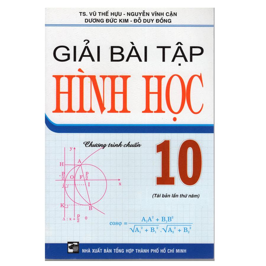 Bìa sách Giải Bài Tập Hình Học 10 Cơ Bản