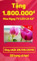 Tặng 1.800.000đ Mua Ngay TV LED LG 42''