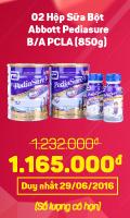 2 Hộp PediaSure BA 850g + 02 Chai Sữa Nước