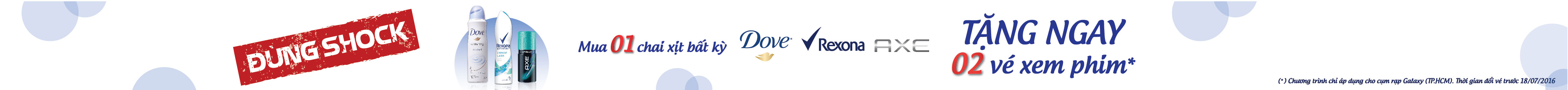 Dove, Axe, Rexona xịt khử mùi