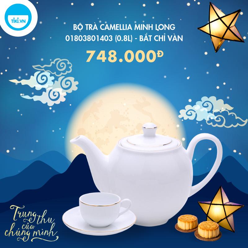 Bộ Trà Camellia Minh Long 01803801403 (0.8L) - Bắt Chỉ Vàn