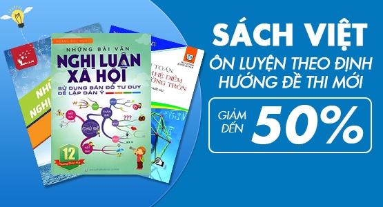 Sách Việt - Ôn Luyện Theo Định Hướng Đề Thi Mới - Giảm Đến  50 %