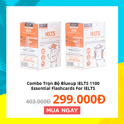 Combo Trọn Bộ Blueup IELTS 1100 Essential Flashcards For IELTS