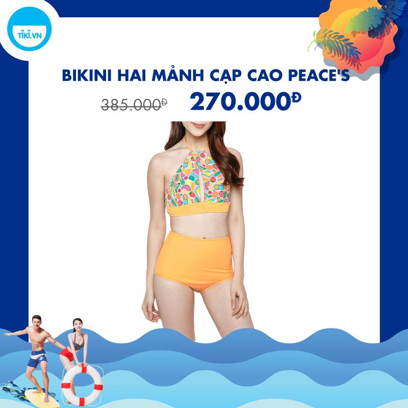 Bikini Hai Mảnh Cạp Cao Peace's LC72 (Free Size)