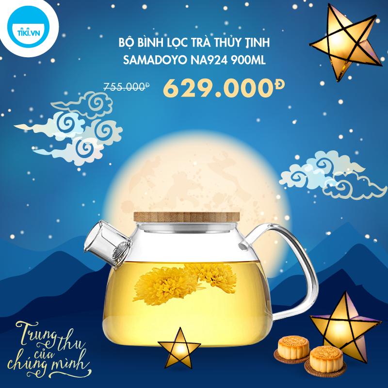 Bộ bình lọc trà thủy tinh Samadoyo NA924 900ml