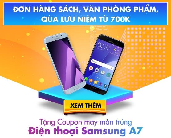 Tặng coupon trúng điện thoại Samsung